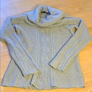 Jeanne Pierre Cable Knit Cowl Neck Sweater